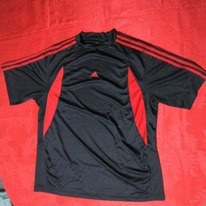 adidas Men's Workout Athletic T Shirt Black Red